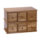 Leslie Dame - Leslie Dame 6-Drawer Deluxe CD Modular Storage Rack in Oak - Leslie Dame - CD & DVD Media Storage - CD150 - This solid oak, apothecary style CD storage cabinet is the ideal place to hide in plain site all those CDs you've been collecting. It features a distinctive modular design, a rich, hand-rubbed finish and classic round knob hardware. Not just for CDs, this stylish cabinet can also serve as a home or office organizer.