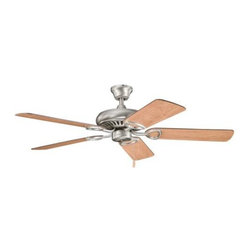 "Kichler - 52"" Sutter Place 52"" Ceiling Fan Antique Pewter - Kichler 52"" Sutter Place Model KL-339011AP in Antique Pewter with Cherry finished blades."