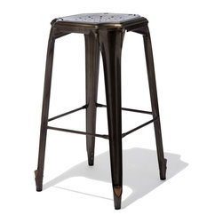 Industry West Cheval Bar Stool The Cheval Stool Borrows The Perforated Se