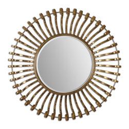 Lightly Antiqued Gold Leaf Mirror - Lightly Antiqued Gold Leaf Mirror