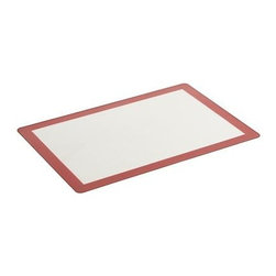 Counter Mat - Flexible modern mat in silicone-coated fiberglass creates a clean, nonstick surface for kneading, rolling and shaping dough. This great counter protector also goes right in the oven on a baking sheet in place of parchment paper. Mat cleans up in the dishwasher, rolls up for compact storage.