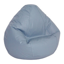 Elite Products - Lifestyle Large Bean Bag in Light Blue - Bean bag chairs create fun seating in any room. Kid sizes can go in bedrooms or family rooms to provide customized seating for younger ones. Wedgewood blue and a host of other popular colors are featured in rugged vinyl with childproof zippers. Long lasting and durable. Double stitched with double overlap folded seam. Double zippered bottom for added security. Childproof safety lock zippers (pulls have been removed). Can easily be refilled by an Adult. Light, convenient to move and store. Easy to Clean. Recommended seating age: 4 to 10 years. Warranty: One year limited. Made from PVC vinyl and polystyrene bead. Made in USA. No assembly required. 32 in. L x 27.5 in. W x 21 in. H (6 lbs.)Fit for comfort. Fit for style. Fit for you throughout all stages in life. Design creatively while relaxing comfortably in a new Lifestyle bean bag! Ideal for the small living spaces and dorm rooms, our Lifestyle bean bags are the perfect way to furnish your place without filling your rooms with lots of space-consuming furniture.