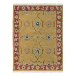 Surya - Surya Nomadic Kilim Southwest Lodge Hand Woven Wool Rug X-32-307DMN - The Nomadic Kilim collection is solely comprised of warps and wefts, with no knots and crafted in the flat woven style. The weaver passes the wefts between each warp from selvedge to selvedge. A vertical slit is created with every change of design - This technique is called slit tapestry weave. Hand woven in India using the finest semi-worsted New Zealand Wool and detailed with intricate weave, each rug has been created to reflect the spirit of the original kilim pieces.