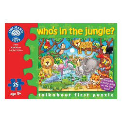 """The Original Toy Company - The Original Toy Company Kids Children Play Who's in the Jungle - This colorful jungle puzzle includes an activity guide to help encourage your child's development. Ages 3 years plus. Puzzle size: 16.5""""x 12"""" 25 pieces. Made in England."""