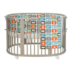 DwellStudio Transportation Multi Oval Crib Bedding Collection | All Modern Baby - Fill your little transporter's nursery with this colorful collection. Combining modern taste with classic sophistication, this high-contrast palate will add energy to any nursery space.