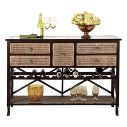 Abaco Server - I've always wanted a butler's pantry next to my kitchen. This rattan server is bound to keep bottles close at hand, and it makes for a great place to serve snacks and desserts.