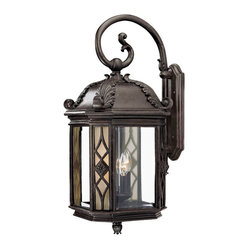 Wall-mount 4-light Outdoor Marbleized Mahogany Light Fixture