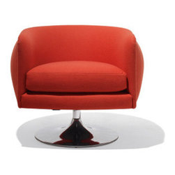 Joseph Paul D'Urso Swivel Lounge Chair - I am absolutely kookoo for swivel chairs right now. Spinning is fun, and chairs that appear to float over the floor leave a lot of extra room for chi to swirl around as well. It's a win-win.
