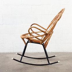 Retro Bamboo Rocking Chair