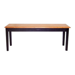 Boraam - Boraam Shaker Wood Dining Bench in Black and Oak - Boraam - Dining Tables - 36536 - Boraam's high quality products are well styled and priced right. Benefitting from years of experience in the industry, Boraam knows what you look for in quality furniture, and takes pride in getting orders out as diligently as possible. Feel confident that Boraam will take your living space to another level.