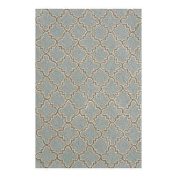 Hooked Plain Tin Slate Wool Micro Contemporary Rug