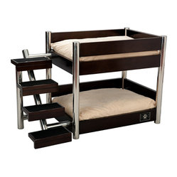 Espresso Metropolitan Double Pet Bed - Frontgate Dog Bed