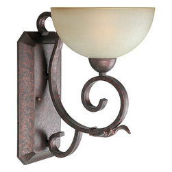 Forte Lighting - Forte Lighting 2275-01 9Wx14Hx11.25E Indoor Up Lighting Wall Sconce - Traditional / Classic Indoor Up Lighting Wall Sconce