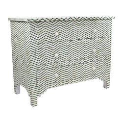 Green Chevron Dresser With Bone Inlay - $2,485 on Chairish.com -