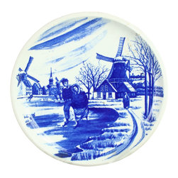 Boch - Consigned Vintage Blue Delft Plate 1970s Boch Ice - Product Details