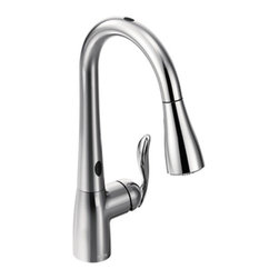 Moen 7594EC - Moen Kitchen Faucets Pulldown Faucet With Motion Sense In Chrome One Handle High Arc 7594EC