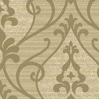 York Wallcoverings - GN2411 Wallpaper, Sample - Prepasted: Paste has already been applied to the back of the wallpaper and is activated with water.