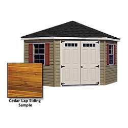 Fifthroom - Corner Nook Shed with Cedar Lap Siding -