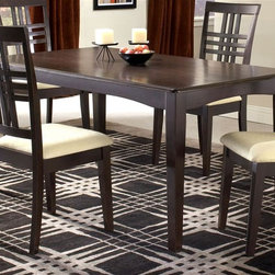 Hillsdale Furniture - Modern Dining Table w Fixed Top & Espresso Fi - For residential use. With Fixed top. Espresso Finish. Chairs sold separately. 29.5 in. H x 36 in. D x 60 in. W (80.79 lbs.)
