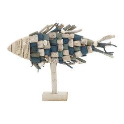 Mesmeric Driftwood Rope Fish - Description:
