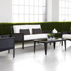 West Coast Deep Seating - The West Coast Collection features the best of woven and aluminum materials. Together we have designed and manufactured a modern deep seating arrangement. Finished with your choice of Sunbrella cushions. Available is also our matching dining collection.
