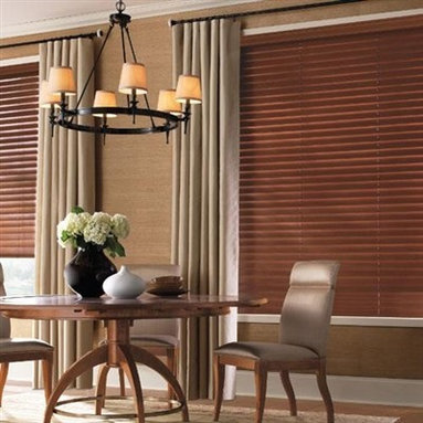 """Levolor Wood Blinds - 2 1/2"""" Premium Wood Blinds. Whites and off-whites,Neutrals - 2 1/2"""" Premium Wood Blinds - Buy with Confidence, Get Free Samples Today!Bring the warmth, beauty, and elegance of nature into your home with the Levolor 2-1/2"""" Premium Hardwood Collection, with six of the most popular, fashion-forward paints and stains to fit any home decor  style. The increased spacing between the larger wooden slats gives you less blockage so you can see outside better. The Levolor LightMaster feature can be added for increased privacy and security. Levolor wood blinds are an excellent choice for quality conscious buyers."""