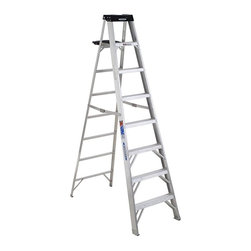 Werner - Werner Aluminum Step Ladder Multicolor - 3720-4849 - Shop for Ladders from Hayneedle.com! The Werner Aluminum Step Ladder comes in four unique sizes so you can pick the type of ladder that's just right for the project you face. Every model is made from sturdy aluminum and comes in your choice of 6- or 8-foot height with varying width for a more comfortable climb. Even the smaller unit can hold a load of 250 lbs. while the bigger sturdier structures have a weight capacity of 300 lbs.! It's a medium-duty commercial ladder that has slip-resistant molded shoes so you climb with confidence and a molded tool-tray at the top with a spill-proof shelf. You'll rise to any challenge on this Werner Aluminum Step Ladder!About WernerWhen you're headed up high for work nothing is more important that safety and trust. Werner is the #1 brand in professional climbing equipment offering a reputation as stable as their products. Every professional-grade product from Werner is designed tested and life-cycle evaluated by experienced professionals to never let you down.