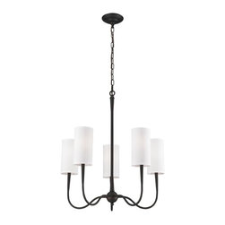 ELK Lighting - Five Light Oiled Bronze Up Chandelier - Five Light Oiled Bronze Up Chandelier