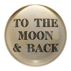 Sugarboo - To The Moon and Back - Handmade paper weights will bring a smile to everyone's face