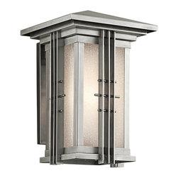 Joshua Marshal - One Light Stainless Steel Wall Lantern - One Light Stainless Steel Wall Lantern
