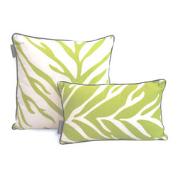 ez living home - EZ Living Home Zebra Dec Pillow Lime, 20x20 - *Timeless and classic zebra pattern with a modern touch, complements existing room decoration.
