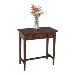 Winsome - Regalia Hall Table - Stylish yet sturdy, this table offers a clean and organized look for anywhere in the house. Featuring three storage drawers with ringed drawer pulls and a Walnut finish, it is a unique and distinguished piece of furniture.