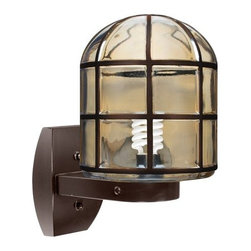 Costaluz - Costaluz 3417-GU24-WALL 1 Light GU24 CFL Outdoor Wall Sconce with Smoked Glass S - Features:
