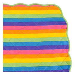 Sin in Linen - Rainbow Baby Blanket - Totally awesome! Your little one will go gaga over this colorful baby bedding.