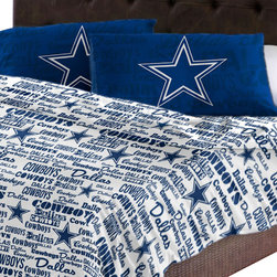 The Northwest Company - NFL Dallas Cowboys Sheet Set Football Anthem Sheets Full Bed - Features: