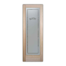 Sans Soucie Art Glass - Pantry Door Classic Design Frosted Glass Door, 24 X 1.375 X 80 - Pantry Door - Classic Design - Quality, hand-crafted sandblast etched glass.