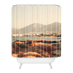 DENY Designs - Catherine McDonald Hersonissos Shower Curtain - Who says bathrooms can't be fun? To get the most bang for your buck, start with an artistic, inventive shower curtain. We've got endless options that will really make your bathroom pop. Heck, your guests may start spending a little extra time in there because of it!