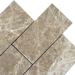 "Marbleville - Emperador Light 3"" x 6"" Polished Marble Floor and Wall Tile - Premium Grade Emperador Light 3"" x 6"" Polished is a splendid Tile to add to your decor. Its aesthetically pleasing look can add great value to any ambience. This Mosaic Tile is made from selected natural stone material. The tile is manufactured to high standard, each tile is hand selected to ensure quality. It is perfect for any interior projects such as kitchen backsplash, bathroom flooring, shower surround, dining room, entryway, corridor, balcony, spa, pool, etc."