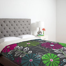 DENY Designs - DENY Designs Khristian A Howell Cape Town Blooms Duvet Cover Multicolor - 13001- - Shop for Duvets from Hayneedle.com! Beautiful contrasting colors make the DENY Designs Khristian A Howell Cape Town Blooms Duvet Cover a must have piece to add to your bed. An array of delightful flowers are gorgeously detailed in green purple and blue colors in this alluring design. Made of ultra-soft 100 percent polyester microfiber material this machine washable duvet cover features small metal snaps that ensure a secure closure around any bed. Size options are available to help you find just what you need.About DENY DesignsDenver Colorado based DENY Designs is a modern home furnishings company that believes in doing things differently. DENY encourages customers to make a personal statement with personal images or by selecting from the extensive gallery. The coolest part is that each purchase gives the super talented artists part of the proceeds. That allows DENY to support art communities all over the world while also spreading the creative love! Each DENY piece is custom created as it's ordered instead of being held in a warehouse. A dye printing process is used to ensure colorfastness and durability that make these true heirloom pieces. From custom furniture pieces to textiles everything they make is unique and distinctively DENY.