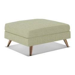 Truemodern - Dane Ottoman - Dane Ottoman by TrueModern designed by Edgar Blazona.. Pair the Dane Ottoman with any of the stunning pieces in TrueModern's Dane collection, and give yourself a leg up. This modern ottoman has beautiful Danish styled wood legs, and is nicely detailed with cording around its cushion.