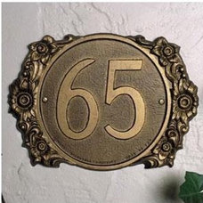 Traditional House Numbers Whitehall Edelweiss Address Plaque