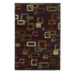 Lifestyles 5424 Mocha Frames Rug - Our Lifestyles Collection is machine-woven in Turkey of 100% heat-set polypropylene. Stylish and yet very affordable, Lifestyles truly lives up to its name by offering trend colors and designs in traditional, contemporary, and transitional patterns. The wide range of sizes will also make it a perfect fit in almost any room in your home.