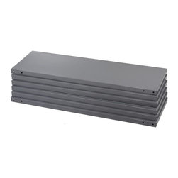 "Safco - Industrial 6 Steel Shelf Pack in Dark Gray Finish (18 in.) - Choose Depth: 18 in.. 6 Shelves. Made of steel. 725 lbs. shelf capacity. Assembly required. 36 in. W x 12 in. D x 85 in. H (35 lbs.). 36 in. W x 18 in. D x 85 in. H (48 lbs.). 36 in. W x 24 in. D x 85 in. H (68 lbs.)Strong arm the competition. The box beam shelf design and double-sided compression clips support loads up to 725 lbs. per shelf (based on a 36""W x 12""D shelf evenly loaded). Shelves lock in place but can be easily repositioned in one-inch increments. Six shelves per shelf pack. Post Kit includes four 85"" high posts (must be ordered with each Shelf Pack) Features corner brakets which help prevent rocking and improve overall stability and rigidity. A hat channel under every shelf increases overall strength."