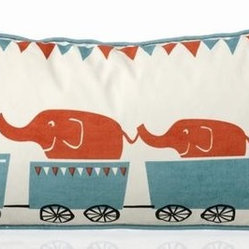 Ferm Living Organic Tiny Train Pillow