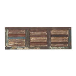 "Benzara - Wooden Wall Panel with Three Square Sections in Rectangular Shape - Wooden Wall Panel with Three Square Sections in Rectangular Shape. Bring home this wall panel that features a rectangular shape and has three square sections. It comes with the following dimensions 48""x1""x16"" It comes with a dimension of 48"" W x 1"" D x 16"" H . Some assembly may be required."
