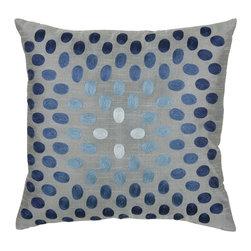 """Gray Blue 18"""" x 18"""" Pillow  Set of 2 - *18"""" x 18"""" Pillow with Hidden Zipper"""