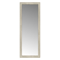 """Posters 2 Prints, LLC - 18"""" x 48"""" Libretto Antique Silver Custom Framed Mirror - 18"""" x 48"""" Custom Framed Mirror made by Posters 2 Prints. Standard glass with unrivaled selection of crafted mirror frames.  Protected with category II safety backing to keep glass fragments together should the mirror be accidentally broken.  Safe arrival guaranteed.  Made in the United States of America"""