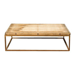BoBo Intriguing Objects - Brickmaker Coffee Table - Reclaimed azobe brickmaker pallet with waxed rust base. Size and height may vary slightly. Due to the nature of this product patina will vary.