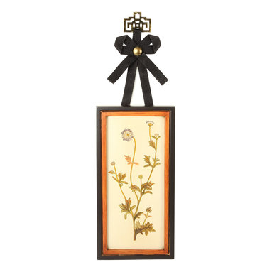 Brandi Renee Designs - Handpainted Purple Wild Flower Wooden Art - This hand painted purple garden flower is painted on a wood plaque base and has a ribbon and metallic hanger that gives an interesting decor detail to your wall arrangement. It can be used by itself or in a pair with its companion piece.