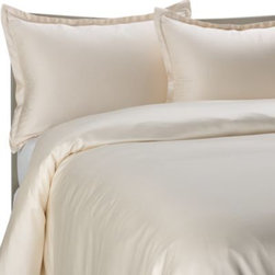 Pure Beech - Pure Beech Modal Sateen Duvet Cover Set in Cream - This Pure Beech Modal Sateen duvet cover set is made from modal, a high-strength fiber from the Beechwood trees in Europe. The fabric contains no pesticides or toxic substances.